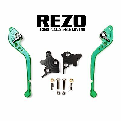 Rezo V2 CNC Adjustable Long Green Levers Aprilia SL 750 Shiver GT 07-16