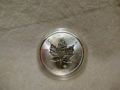 2019 Canadian Incused One Ounce Silver Maple Leaf .9999 Fine In acrylic holder b
