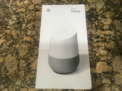 Google Home Personal Assistant Voice Activated Speaker- White / Slate BRAND NEW!