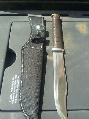 WW2 Theater Made Fighting Trench Knife Leather Handle