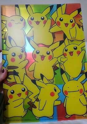 Pokemon Colourful Plastic Folder With Pocket Pages