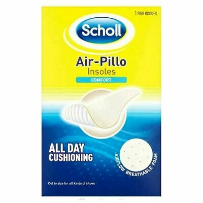 4 x Scholl Air-Pillo Comfort Insoles AirFlow Breathable Foam For Everyday Use