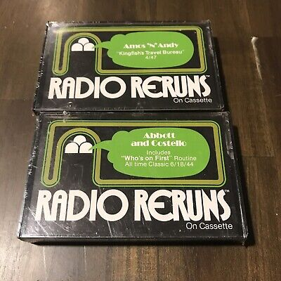 Radio Reruns Lot Of 2 Sealed Abbott & Costello  And Amos N Andy Cassette Tape