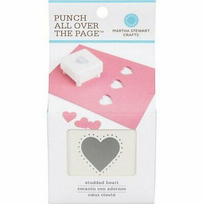 CLEARANCE Martha Stewart Punch All Over The Page – Studded Heart New