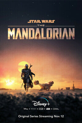 "The Mandalorian Poster 48x32"" 36x24"" 21x14"" New TV Series Star Wars 2019 Silk"