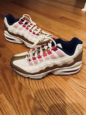 Details about Nike Air Max 95 LE GS VALENTINE'S DAY WHITE CARMINE RED SPARK PINK 310830 100 7Y