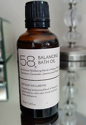 58 Balancing bath oil by Artisan Wellbeing 50ml brand new sealed cap