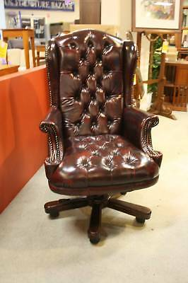 A Chesterfield Leather High Back Office Chair with Warranty - Various Colours