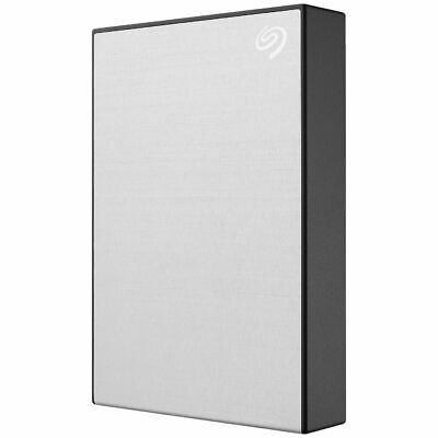 Seagate 5TB Backup Plus Slim Portable Hard Drive Silver