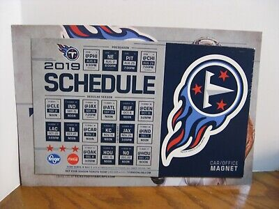 NFL Tennessee Titans - Car / Office Magnet - 2019 Schedule / Logo