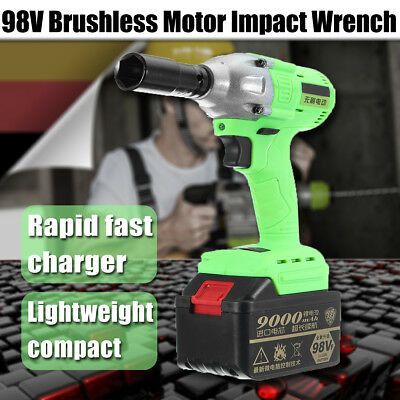 Torque 520 Nm 98V Cordless motor Electric Impact Wrench Brushless
