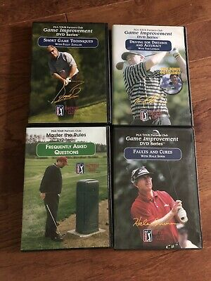 PGA TOUR Partners Club Lot of 4 Golf DVDs, golf instruction, Game Improvement