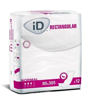 ID EXPERT RECTANGULAR NORMAL 💧💧💧 14 PACKS OF 12 INCONTINENCE PADS 80x305