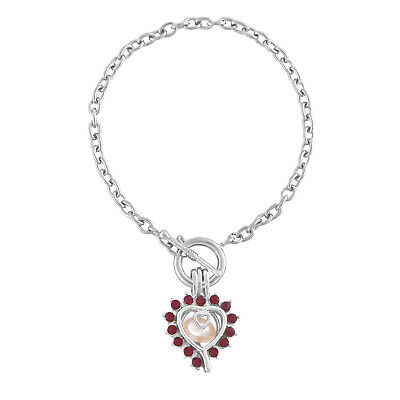 Fashion heart with red diamond love wish pearl cages bracelet for DIY