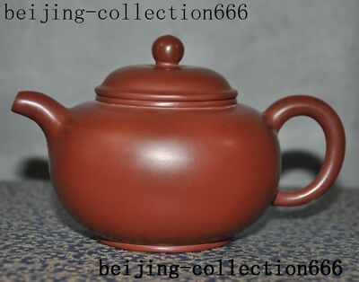 """5""""marked old chinese Yixing Zisha pottery master carving Text Tea makers Tea Pot"""