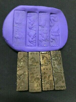 4 set of Sumerian civilization cylinder seal intaglio Animal and history Replica