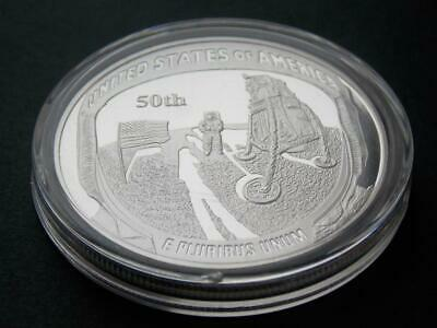 1969 Apollo 11 Moon Landing 50th Anniversary Silver plated Coin Gemini Mercury C
