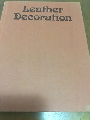 LEATHER DECORATION, vintage Book 1975