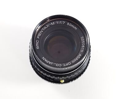 Pentax SMC Pentax-M 50mm 1:1.7 Lens for Pentax K PK Mount WORKS TESTED