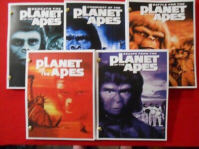 5 scripts from the 1960's-70's movies Planet of the Apes