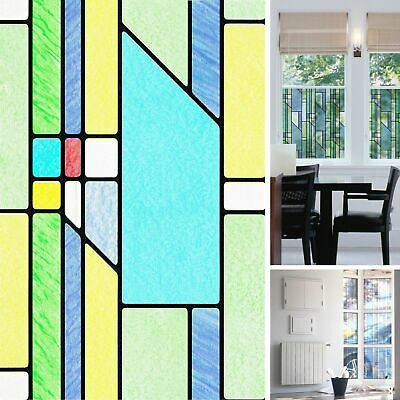 NEW DIY Window Busko Stained Glass Effect Vinyl Self Adhesive Sticky Back Film