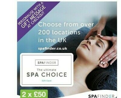 £100 SpaFinder Wellness Gift Card Multipack (2 x £50)