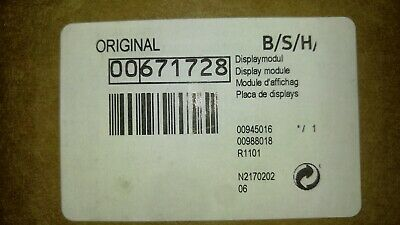 Brand New Thermador Double Wall Oven Display Module Part# 00671728