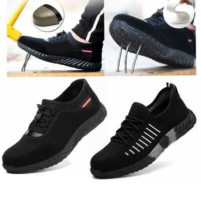 Lightweight Safety Shoes Mens Womens Steel Toe Cap Work Boot Trainers Sports