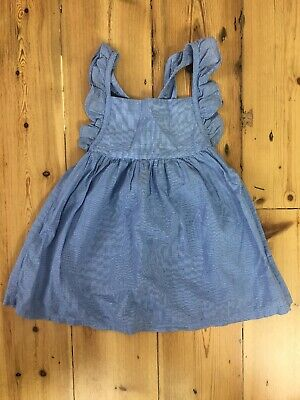 Country Road Girls Blue Check Dress Size 18-24months