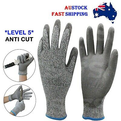 Safety Gloves Cut Resistant Level 5 Anti Cut Work Gloves Hand Protection *Aus*