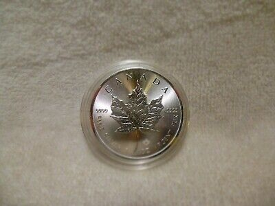 2019 Canadian One Ounce Silver Maple Leaf .9999 Fine In Airtite Capsule b