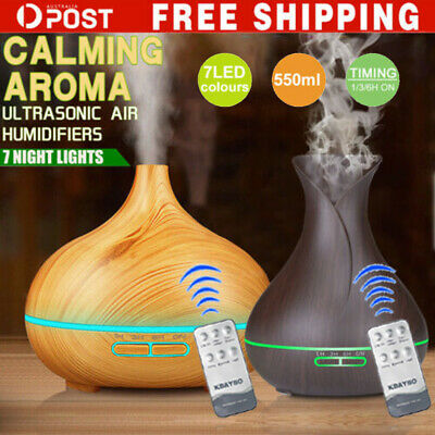 A-550ml Essential Oil Humidifier Aroma Diffuser Ultrasonic Air Mist Aromatherapy