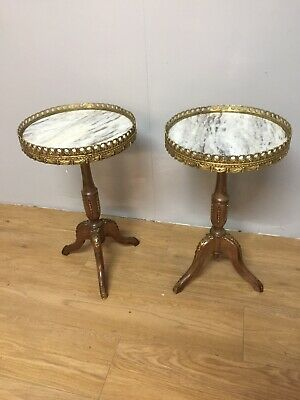 Pair Of Ormolu Mounted Marble Topped Wine Tables