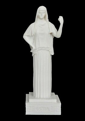 Hestia small Alabaster statue - Greek Goddess of The Family and The State