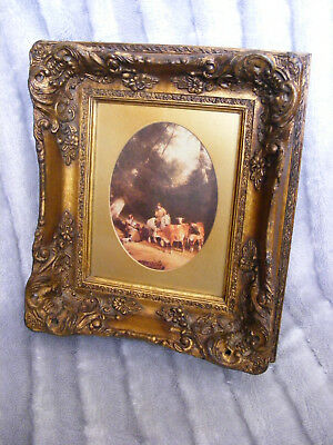 Rococo Antique Ornate Gold Gilt Gild Frame Mill'd Boards Oil Painting Picture