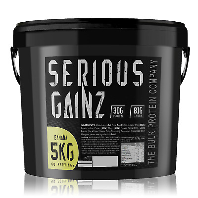 SERIOUS GAINZ 5KG Mass Gainer Save On Protein Powder - Buy 2 just £24.29 each!