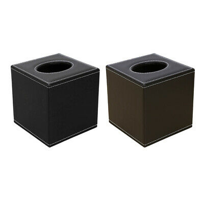 Square Tissue Holder Box Paper Storage Case Container for Office Home Table