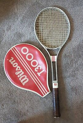 Wilson T3000 Vintage Tennis Racket With Cover - Very Good Condition