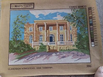 Historic 1838 Clarendon Homestead Tas.tapestry Canvas By Semco/Coats 100%Cotton