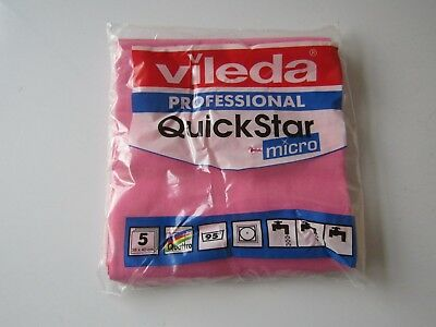 Vileda Professional Quick Star Micro Cloths - pink/red
