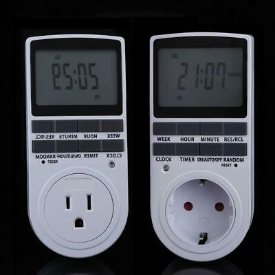 A1ST Programmable 7 Days 12H/24H Digital Electronic Plug-in Timer Switch Socket