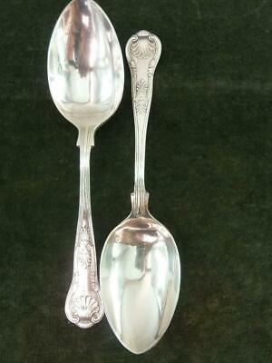 2 nice vintage EPNS A1 Serving Spoons kings pattern silver plated