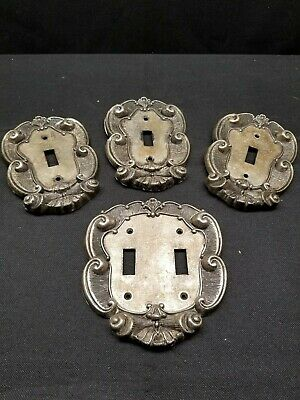 Old Vintage Brass Vernon Double and Single Toggle Switch plates Asheville NC