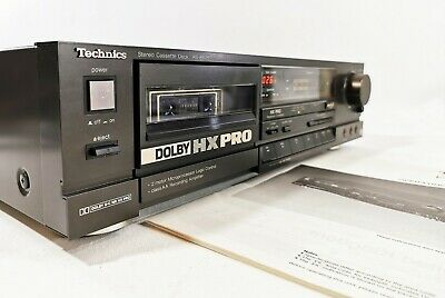 Technics RS-B505 Cassette Deck + Manual - HX Pro, Dolby B & C  FREE UK DELIVERY