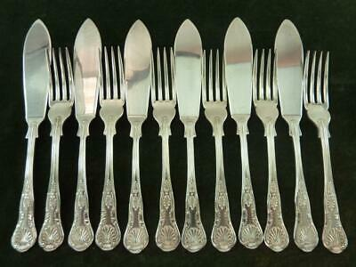 nice Vintage 6 Setting EPNS A1 Fisheaters set kings pattern silver plated