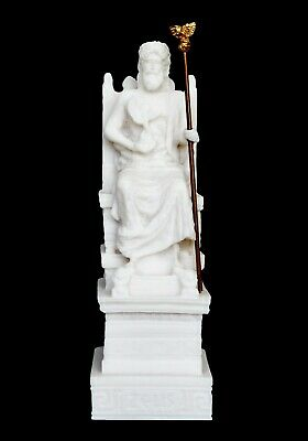 Zeus Alabaster small statue - Olympus King of All Gods Ruler of Sky and Thunder