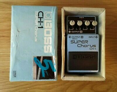 Boss CH1 1990 Blue Label Super Chorus guitar effects pedal CH-1 Analog
