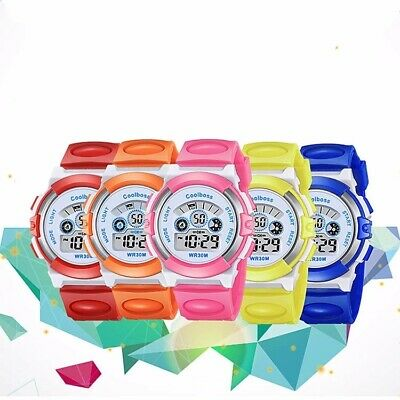 Kids Girls Boy Multi-function Electronic Sport Digital Waterproof Wrist Watch
