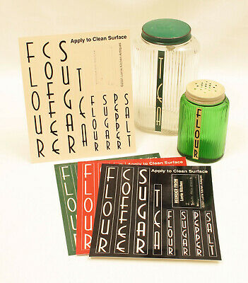--- Owens OVOID Kitchen Canister Reproduction Labels ---
