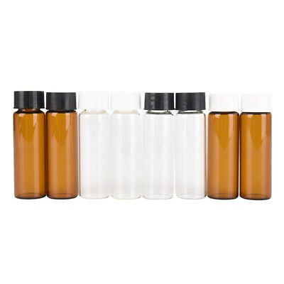2pcs 15ml small lab glass vials bottles clear containers with screw cap MF